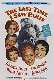 Amikor utoljára láttam Párizst (1954) online film